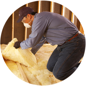 Insulation Contractor in the Tampa Bay Area installing insulation